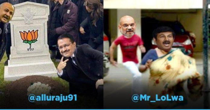 delhi election memes 2020