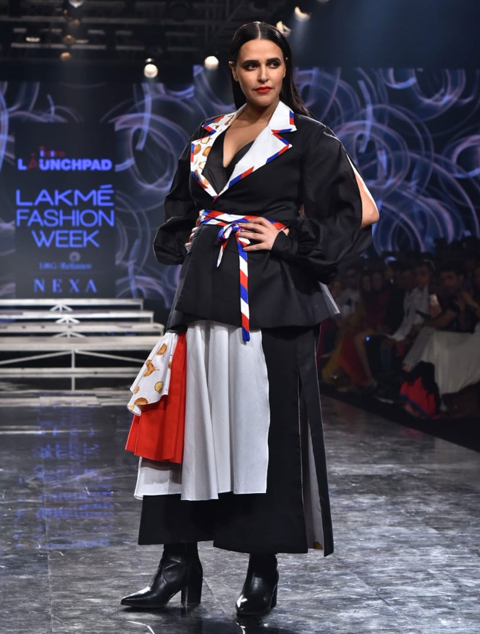 neha dhupia lakme fashion week