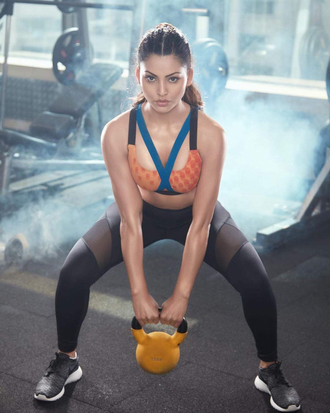 urvashi in gym