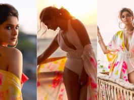 Jennifer Winget Pictures In White Bikini